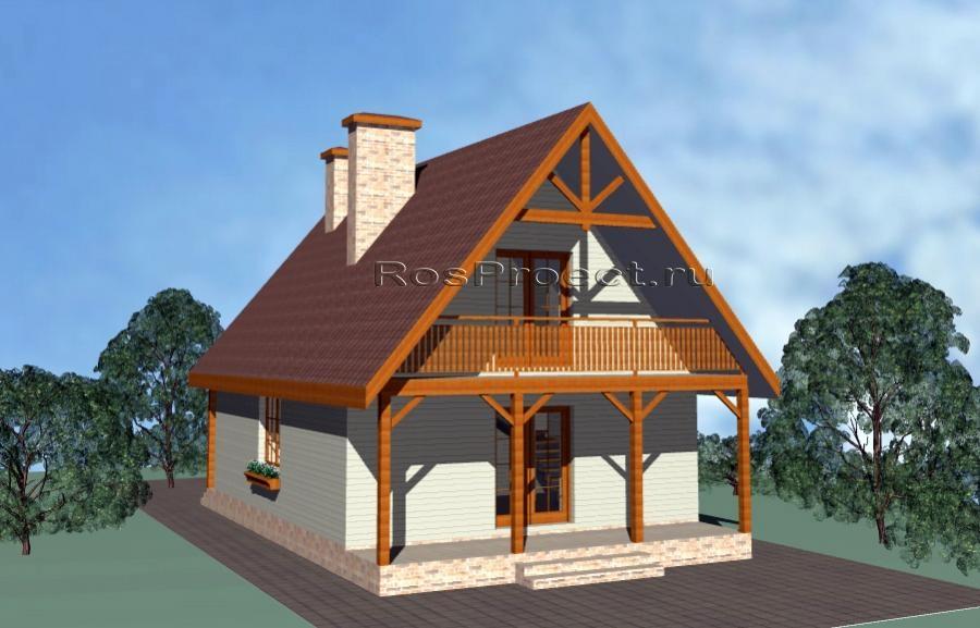 Дом с мансардой, террасой и балконами rpg1090 в тамбове - та.
